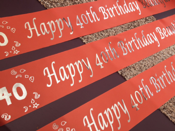 40th Birthday Banner Personalised